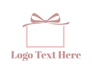 Bow - Pink Present logo design