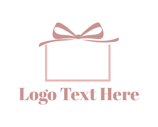 Celebration - Pink Present logo design