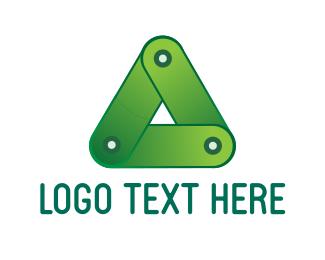 Biodegradable - Green Triangle logo design