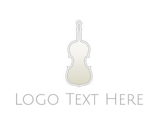 Classical Music - Silver Violin logo design