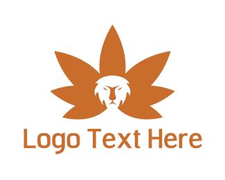 Weed - Cannabis Lion logo design