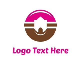 Sugar - Donut Castle logo design