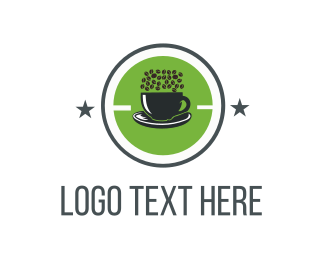 Coffee - Green Coffee Cup logo design
