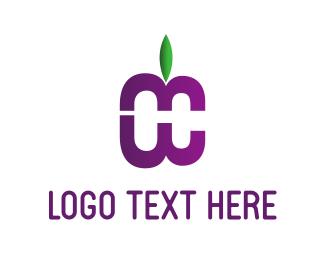 Bloom - Purple Fruit logo design