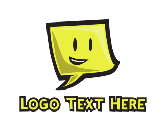 Note - Smiling Note logo design