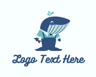 Repairman - Whale Service logo design