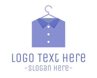 Laundry - Blue Shirt  logo design