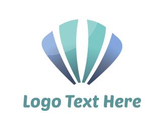 Shell - Blue Sea Shell logo design