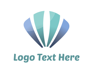 Sea - Blue Sea Shell logo design