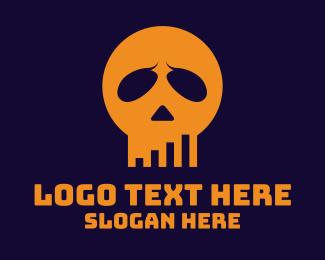 Clan - Skull Statistics logo design