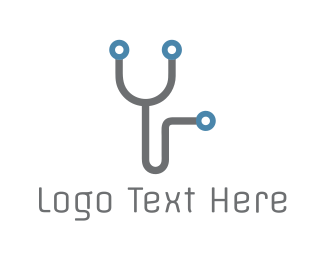 Hospital - Electronic Stethoscope logo design