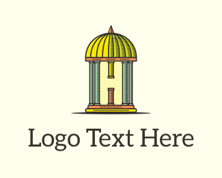 Pillar - Dome Letter H  logo design