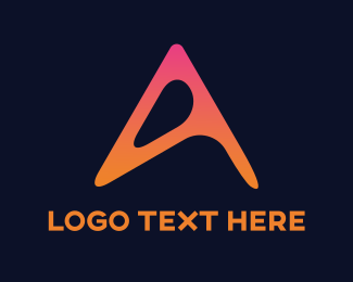 Orange And Pink - Orange Letter A  logo design