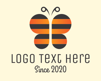 Wasp - Bee & Butterfly logo design