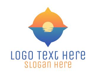Sunset - Ocean Compass logo design