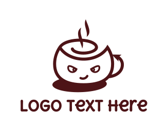 Coffee - Devil Cafe logo design