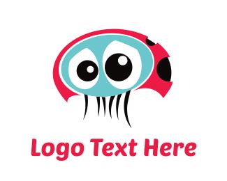 Sad - Sad Ladybug logo design
