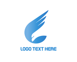 Airline - Blue Wings logo design