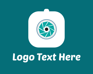 Roll - Blue Camera logo design