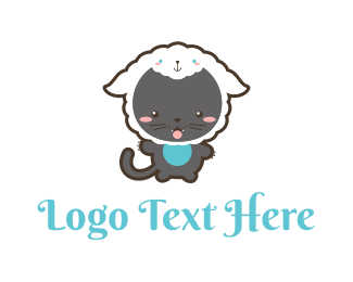Dress Up - Cat Sheep logo design