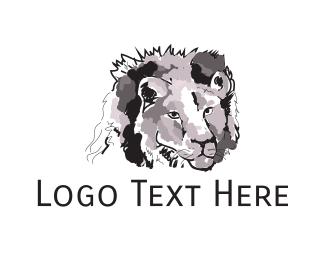 Watercolor - Watercolor Lion logo design