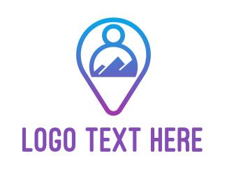 App - Blue Person App logo design
