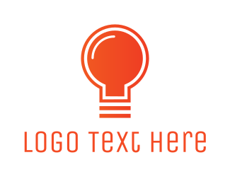 Lighting - Orange Light Bulb logo design