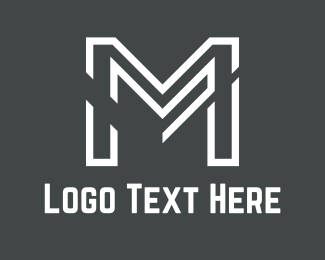 Construction - White Letter M  logo design