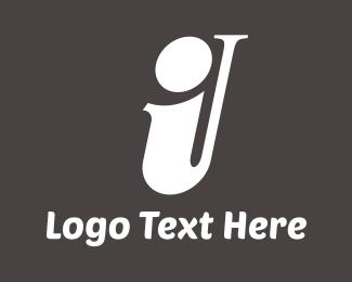 Trumpet - Saxophone Letter I logo design