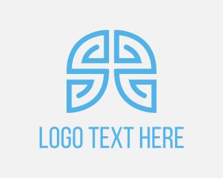 Brain - Blue Maze Game logo design