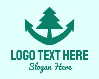Anchor - Anchor Tree logo design