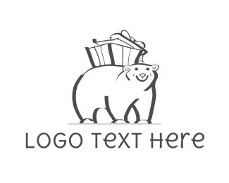 Hamper - Bear Gift logo design