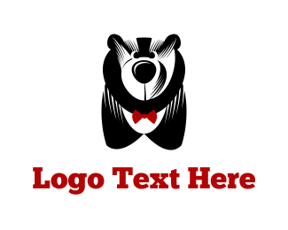 Big - Big Bear & Bowtie logo design