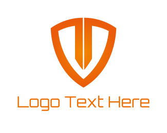 Safety - Orange Shield logo design