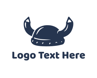 School - School Viking logo design