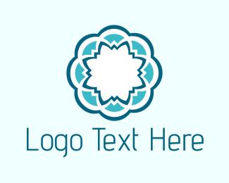 Mandala - Blue Flower logo design