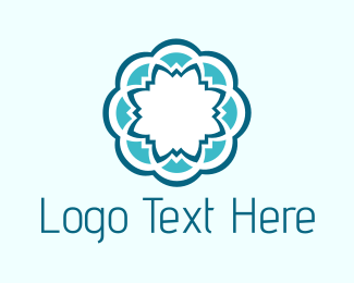 Mandala - Blue Flower logo design