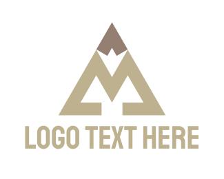 Biography - Pencil Letter M logo design