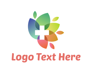 Hospital - Flower Cross logo design