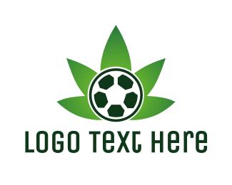 Football - Soccer Cannabis  logo design