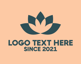 Alternative Medicine - Lotus Flower logo design