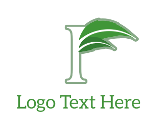 Marijuana - Floral F logo design