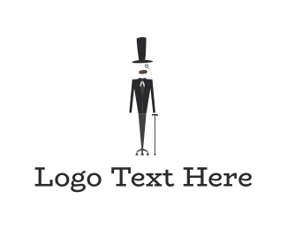 Black Tie - Elegant Man logo design