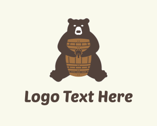Bear - Bear & Barrel logo design