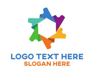 Origami - Origami Flower logo design