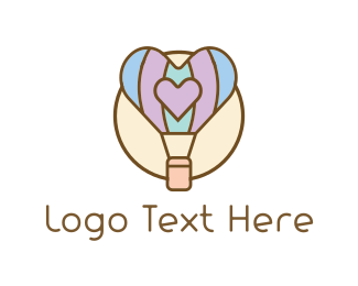 Wix - Love Balloon logo design