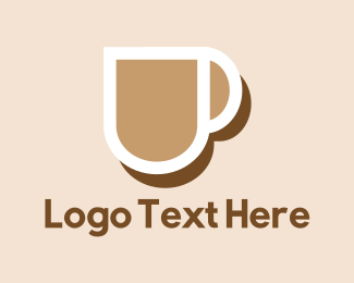 Mug - Brown Coffee Mug logo design