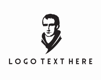 English - Man Statue logo design