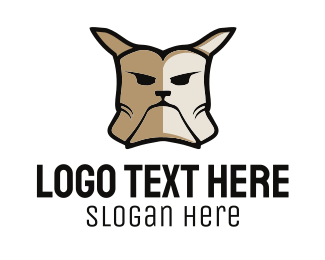 Dog Trainer - Angry Dog logo design