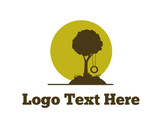 Playground - Tree Swing logo design